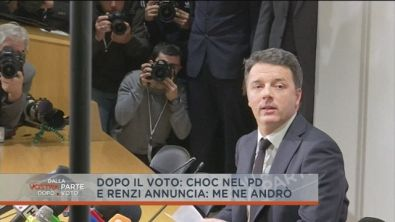 "Renzi: ""Me ne vado ma..."""