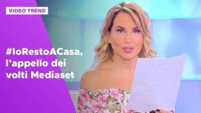 #IoRestoaCasa, l'appello dei volti Mediaset