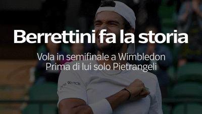 Wimbledon, Berrettini e' in semifinale