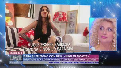 """Elena al telefono con Nina: """"Luigi mi ricatta"""""""
