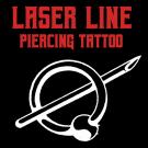 Laser Line Piercing Tattoo