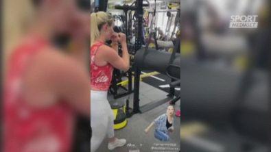 Vonn, che muscoli in allenamento