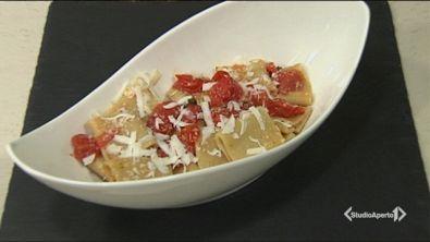 Paccheri con pomodorini e ricotta salata