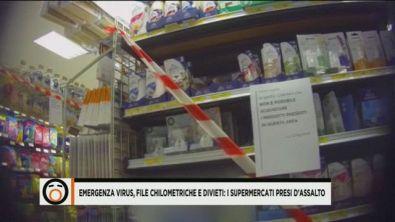 Virus, supermercati presi d'assalto