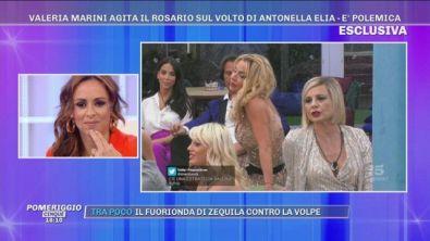 GFVIP - Valeria Marini agita il Rosario sul volto di Antonella Elia, è polemica!