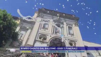 Bimbo caduto dal balcone - Oggi i funerali