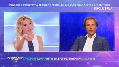 Antonio Zequila: ''Il marito di Fernanda Lessa ha agito da imbecille''