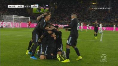 Germania-Argentina 2-2: il gol di Ocampos
