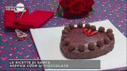Soffice cuore di cioccolato