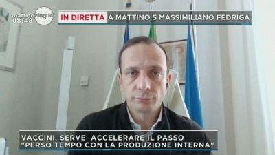Massimiliano Fedriga a Mattino 5