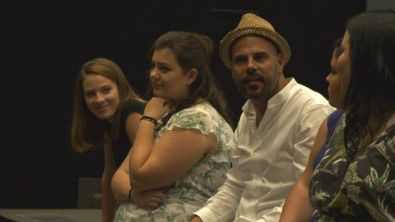Francesco Ghiaccio, Marco D'Amore e Valeria Golino in Masterclass