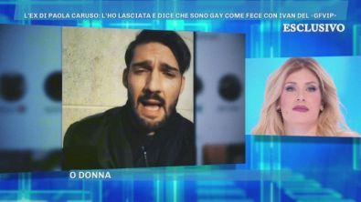 Le accuse dell'ex di Paola Caruso