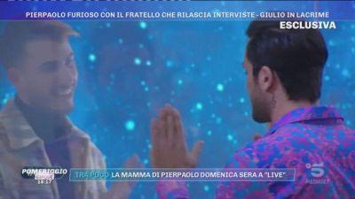 GFVIP - Pierpaolo furioso con il fratello che rilascia interviste: Giulio in lacrime