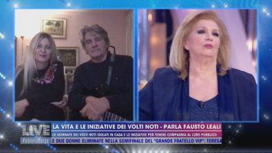 La quarantena di Fausto Leali con la moglie