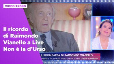 Il ricordo di Raimondo Vianello a Live - Non è la d'Urso