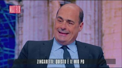 Nicola Zingaretti a Matrix