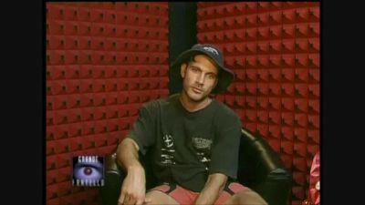 """Sergio Volpini """"l'ottusangolo"""" al Grande Fratello 2000"""