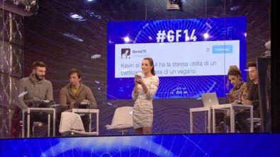 La Social Room di GF14 su Kevin