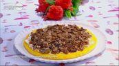 Torta di polenta con funghi