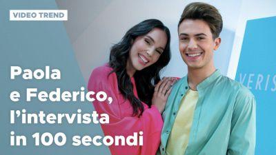 Paola Di Benedetto e Federico Rossi, l'intervista in 100 secondi