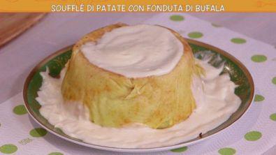 Soufflé di patate con fonduta di bufala