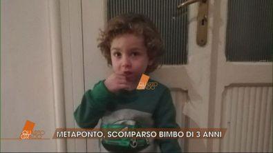 Metaponto, scomparso bimbo di 3 anni