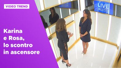 Karina e Rosa, lo scontro in ascensore