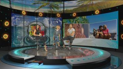 Eva Grimaldi e Simone Susinna in videochat