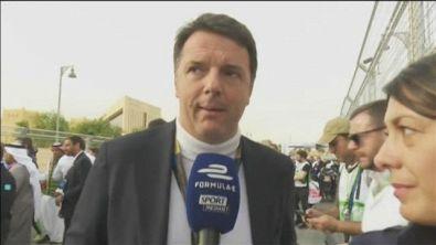 """Renzi a Riad: """"Tifo Massa, auto elettrica il futuro"""""""
