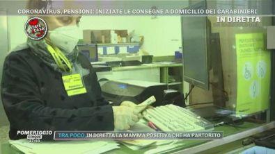 Coronavirus, pensioni: iniziate le consegne a domicilio dei carabinieri