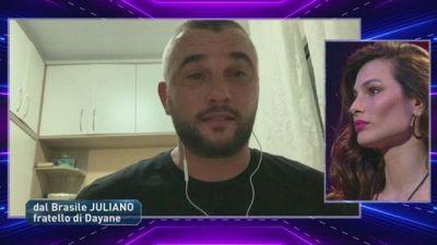 La telefonata di Juliano, il fratello di Dayane Mello