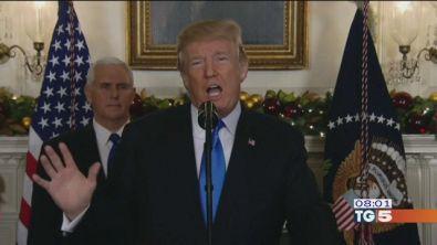 """Gerusalemme capitale Trump. """"scelta di pace"""""""