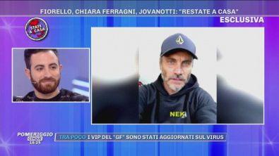 """Fiorello, Chiara Ferragni, Jovanotti: """"restate a casa"""""""