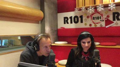 Laura Pausini ospite della Banda di R101