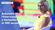 Antonella Elia: l'intervista a Verissimo in 100 secondi