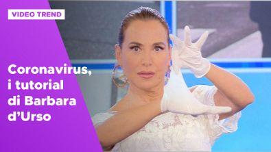 Coronavirus, i tutorial di Barbara d'Urso
