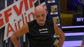 Il primo allenamento di Paolo Brosio