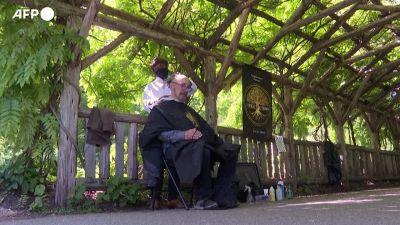 A New York c'e' una nuova attrazione: il barbiere di Central Park
