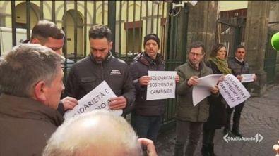 Napoli, flashmob per i carabinieri