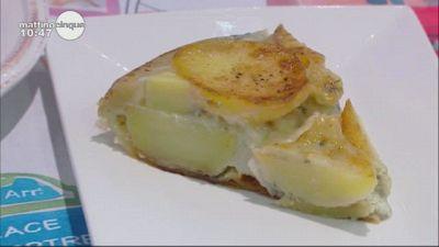 Tarte Tatin di patate e formaggio Roquefort