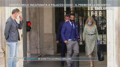 Sandra Milo incatenata a Palazzo Chigi, il Premier la incontra