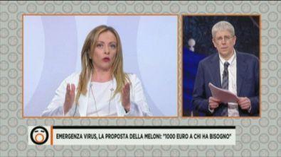 """Emergenza virus, Meloni: """"1000 euro a chi ha bisogno"""""""