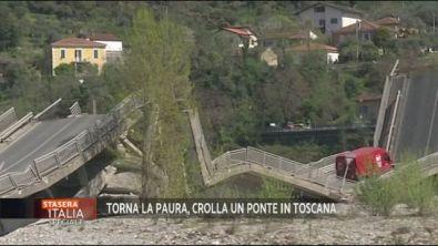 Il crollo del ponte in Toscana