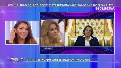 "GFVIP - Zequila: ""Tra me e Adriana Volpe c'è stata intimità"""