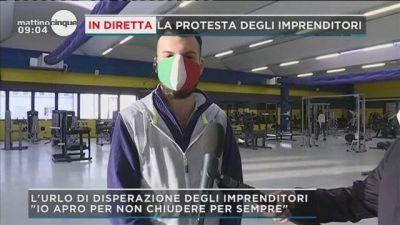 La protesta degli imprenditori