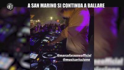 Coronavirus e discoteche chiuse: a San Marino un dj set con tantissimi giovani