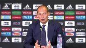 """Juventus, Allegri scherza sulla fascia di capitano: """"Va ai piu' esperti. Bonucci? No, e' andato via"""""""
