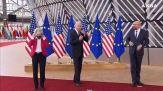 Ue-Usa, a Bruxelles von der Leyen e Michel accolgono Biden