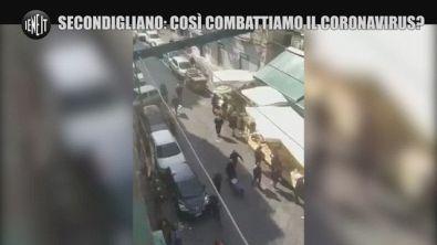 Napoli e il coronavirus. Mercato frequentato, nonostante la quarantena