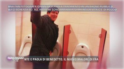 Gianni Morandi in bagno...